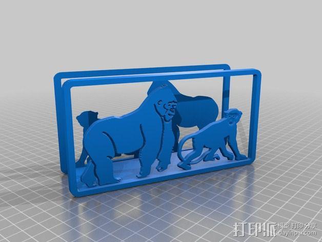 猴子摆件 3D模型  图1