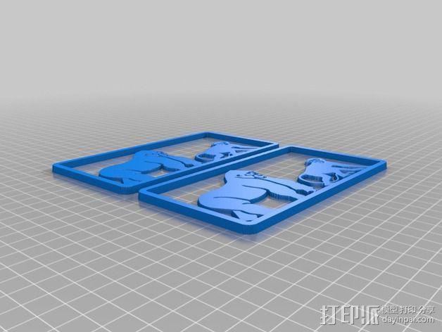 猴子摆件 3D模型  图4