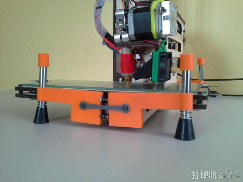 弹簧脚 3D模型  图1