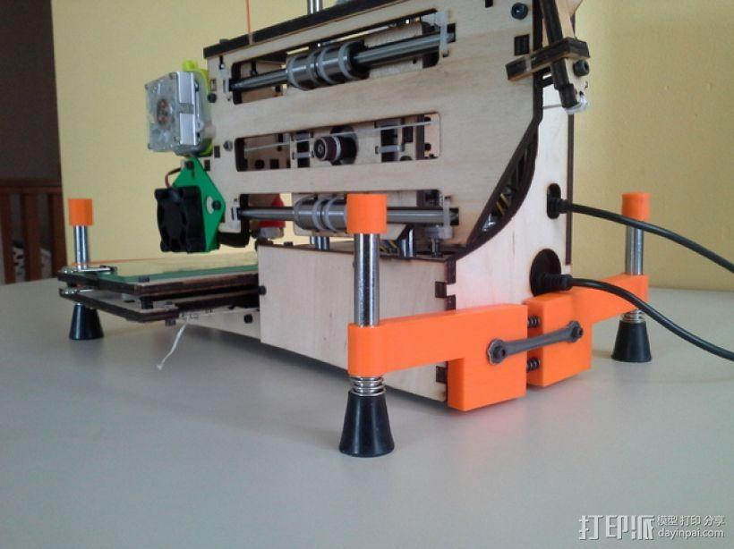 弹簧脚 3D模型  图6