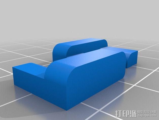 小型皮带张紧器 3D模型  图2