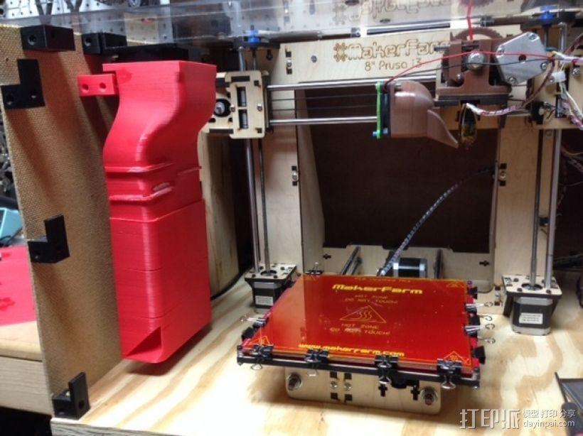 打印机外罩加热器整流罩 3D模型  图1