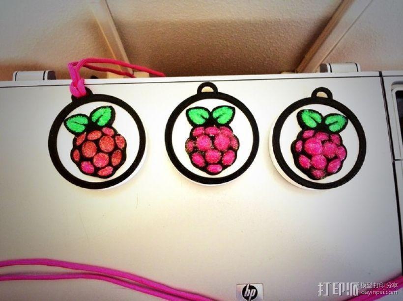 树莓派 标志 大奖章 3D模型  图2