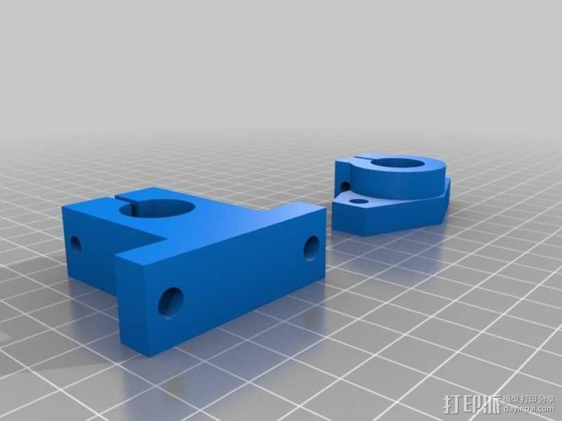 轴杆固定夹  3D模型  图1
