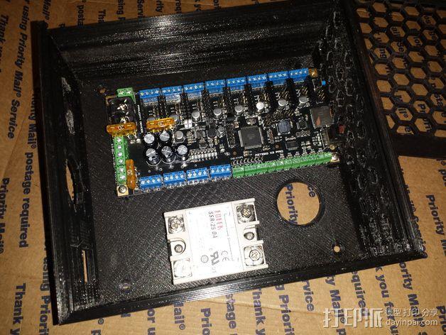 Azteega X3 pro电路板保护罩 3D模型  图5