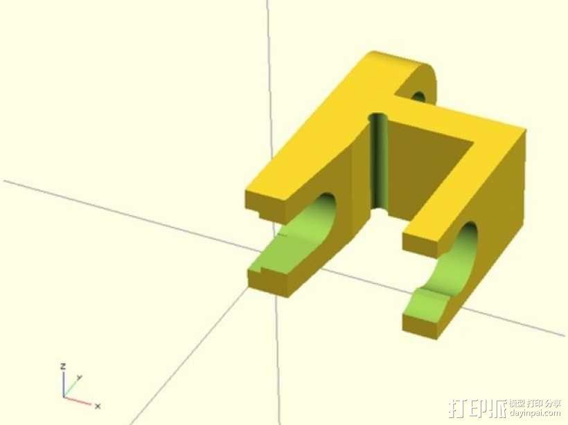挤出机线材管固定器 3D模型  图1