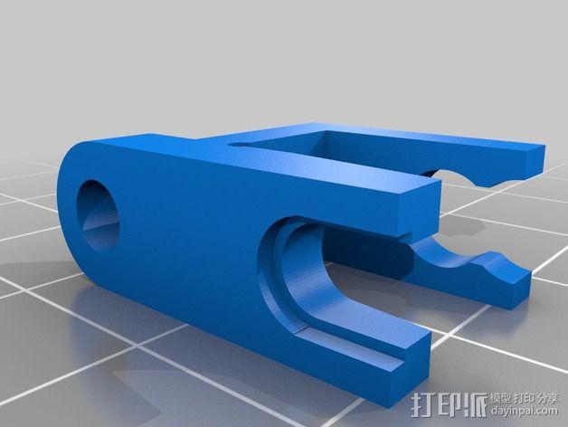 挤出机线材管固定器 3D模型  图2