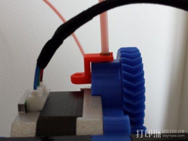 挤出机线材管固定器 3D模型  图3