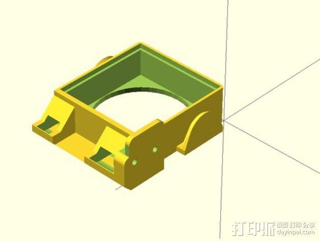 风扇通风导管 风扇支架 3D模型  图6