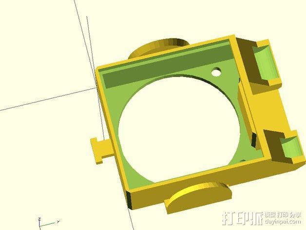风扇通风导管 风扇支架 3D模型  图4