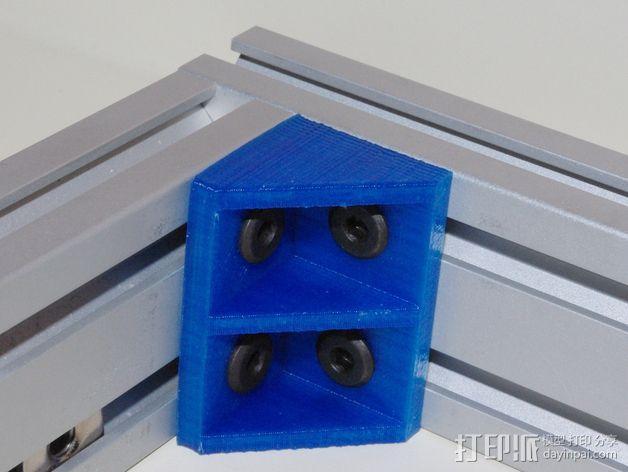 打印机的角托架 3D模型  图1