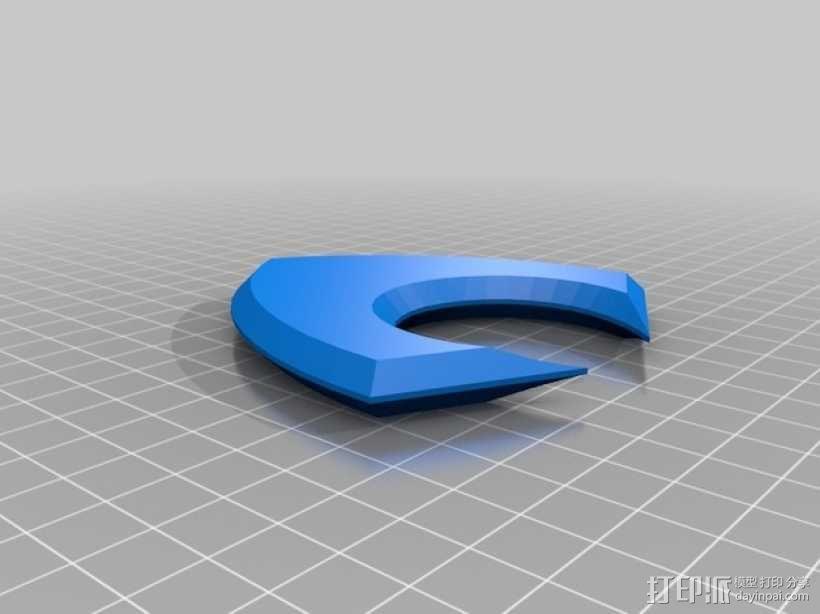 潜水侠 标志 3D模型  图2