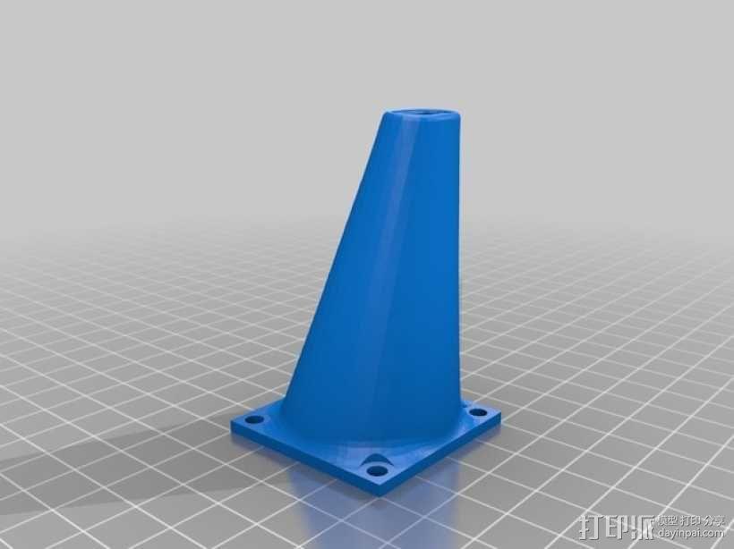 打印机喷头风扇 3D模型  图2