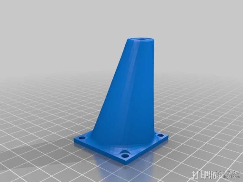打印机喷头风扇 3D模型  图3