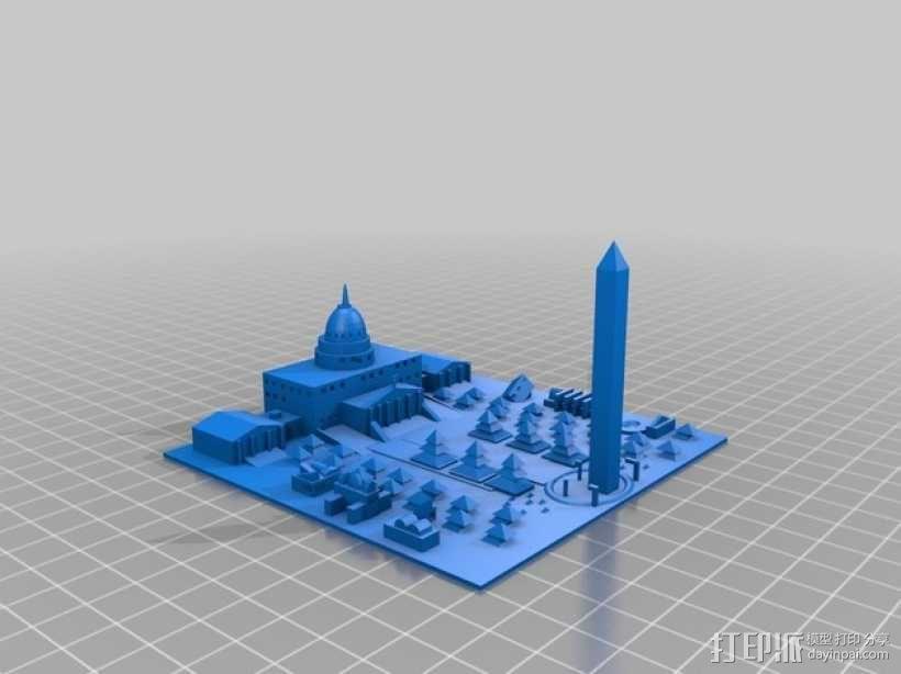 Washington D.C华盛顿特区城市模型 3D模型  图1