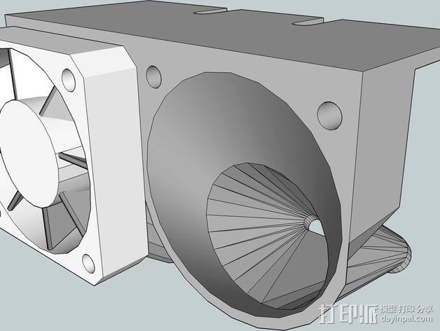 双风扇导管 3D模型  图2