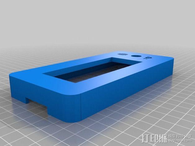 LCD液晶显示屏的保护罩和支架 3D模型  图3