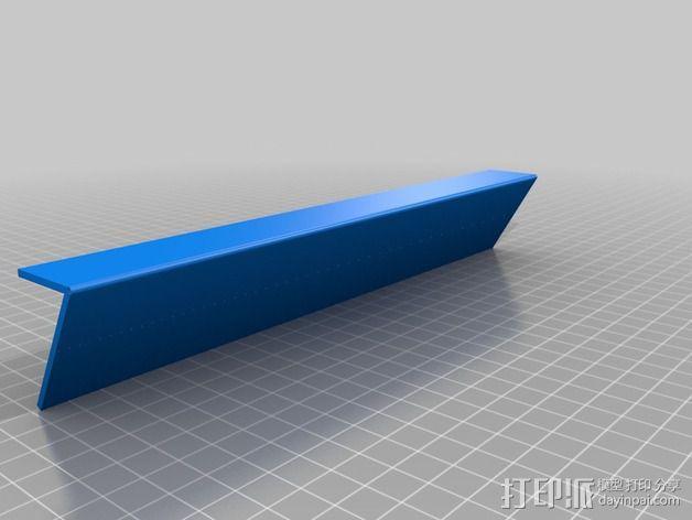 LCD液晶显示屏的保护罩和支架 3D模型  图4