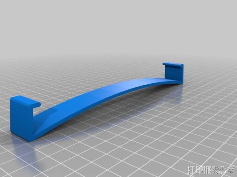 Replicator 2X打印机的构建床固定夹 3D模型  图1