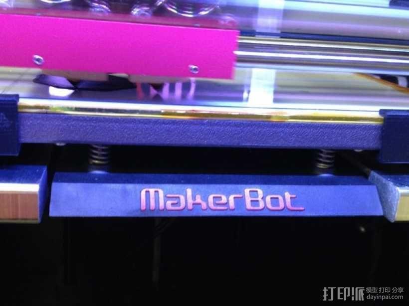 Replicator 2X打印机的构建床固定夹 3D模型  图2