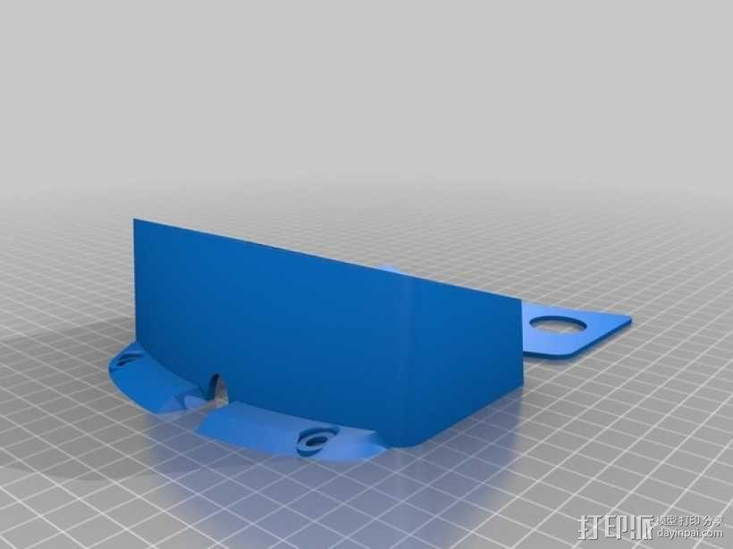 拨动开关开关盒 3D模型  图2