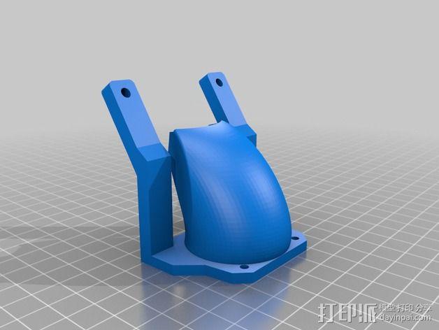 挤出机的风扇通风导管 3D模型  图2
