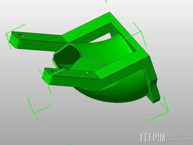 挤出机的风扇通风导管 3D模型  图3