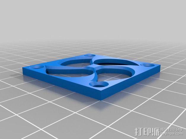 40毫米的风扇罩 3D模型  图2