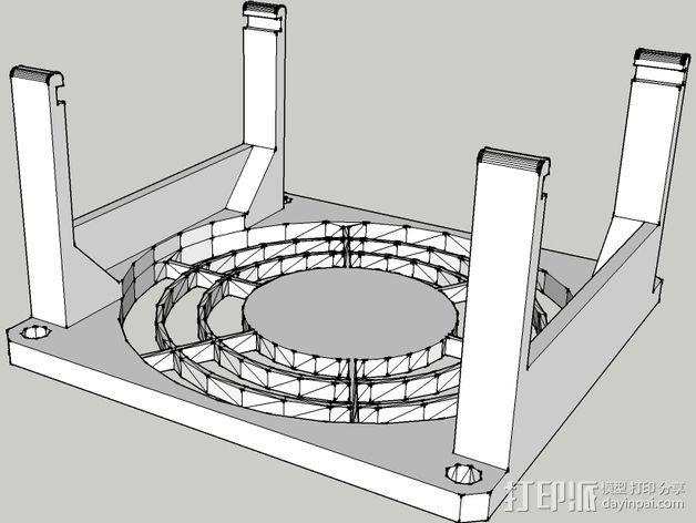 电路板的风扇支架 3D模型  图1