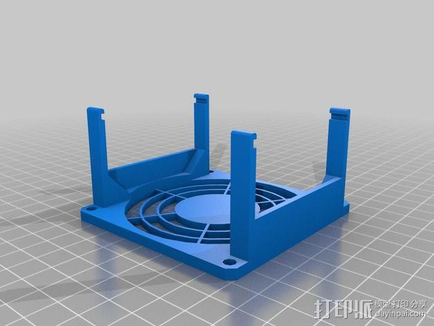 电路板的风扇支架 3D模型  图2