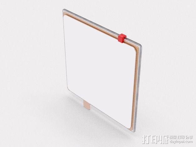 玻璃板夹 3D模型  图2