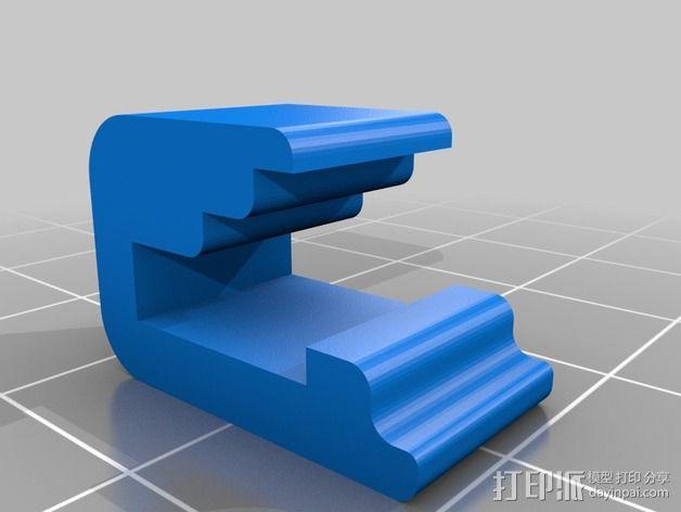 玻璃板夹 3D模型  图4
