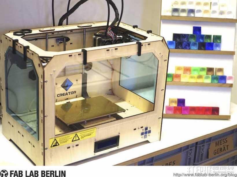 Creator Flashforge 打印机外罩 3D模型  图1
