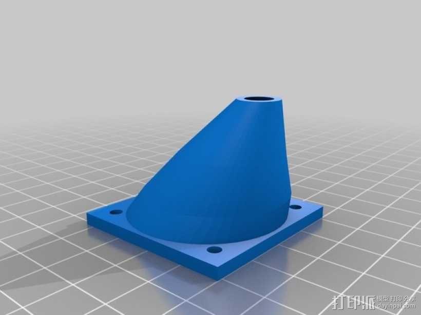 Printrbot Simple打印机的风扇通风导管 3D模型  图1