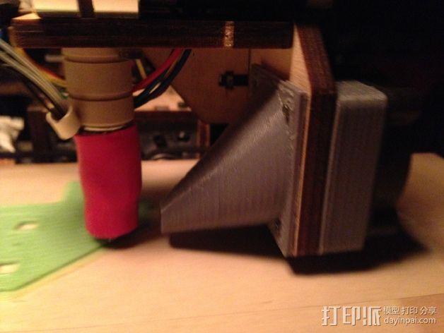 Printrbot Simple打印机的风扇通风导管 3D模型  图2