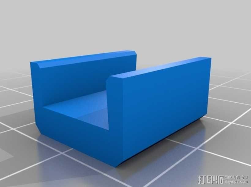 Prusa I3打印机热床支撑套件 3D模型  图2