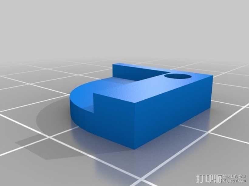 Prusa I3打印机热床支撑套件 3D模型  图4