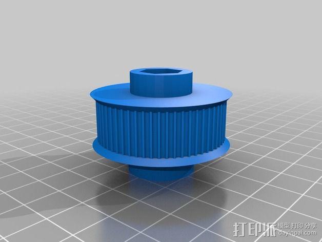 GT2皮带滑轮 3D模型  图1