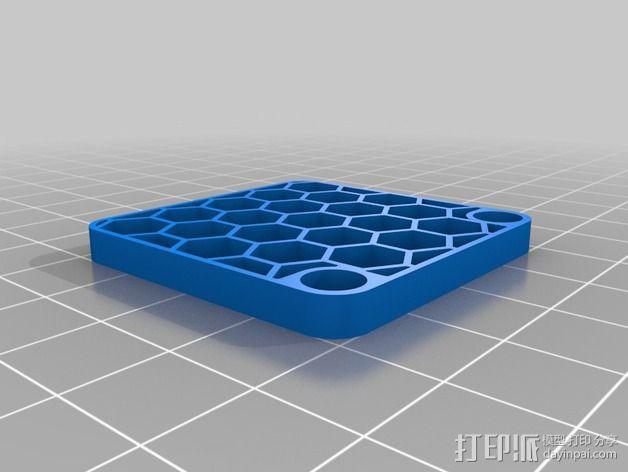 蜂巢式风扇罩 3D模型  图2