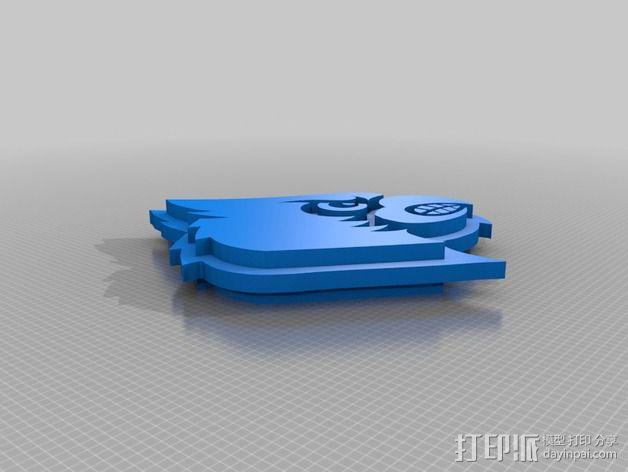 路易斯维尔大学标志 3D模型  图3