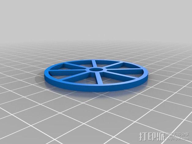 Kossel Mini打印床调节器 3D模型  图4