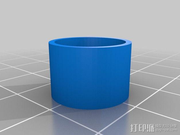 Kossel Mini打印床调节器 3D模型  图2