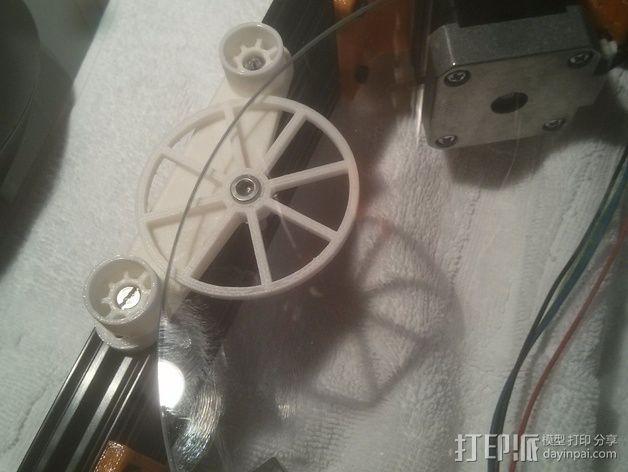 Kossel Mini打印床调节器 3D模型  图5
