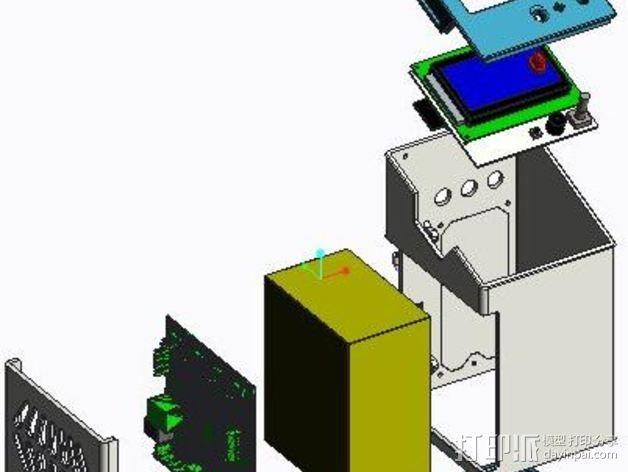 控制器电路板保护罩 3D模型  图3