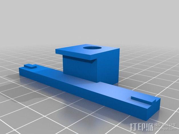 Flashforge打印机的仪表盘支架 3D模型  图1