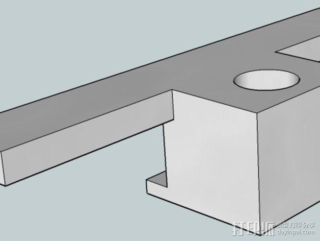 Flashforge打印机的仪表盘支架 3D模型  图3