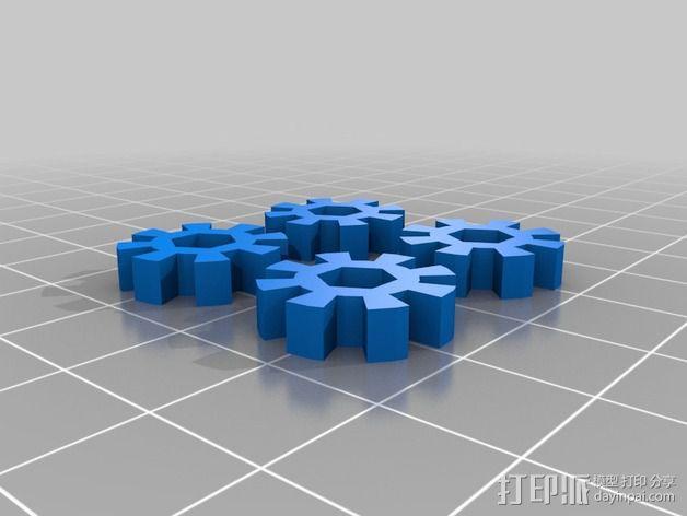 打印床调平器 旋钮 3D模型  图2