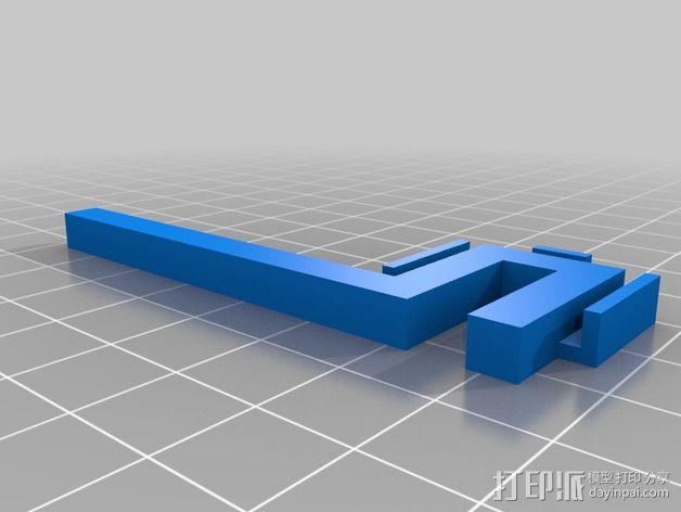 自动调平器探针 3D模型  图2