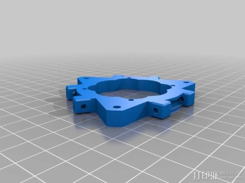 打印机的喷头支架 3D模型  图2