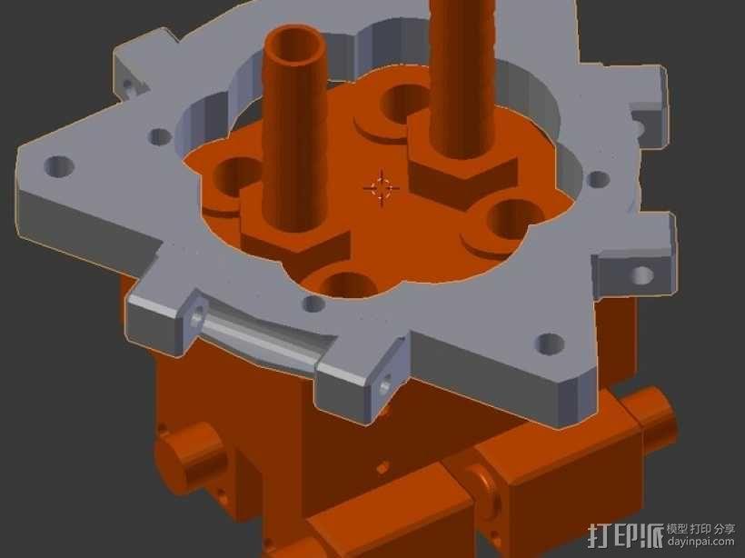 打印机的喷头支架 3D模型  图1